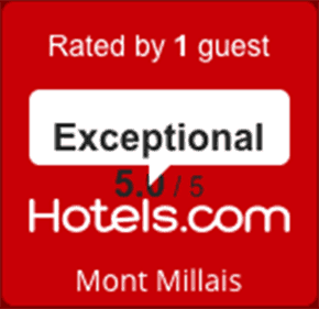 Hotels.com review rating badge